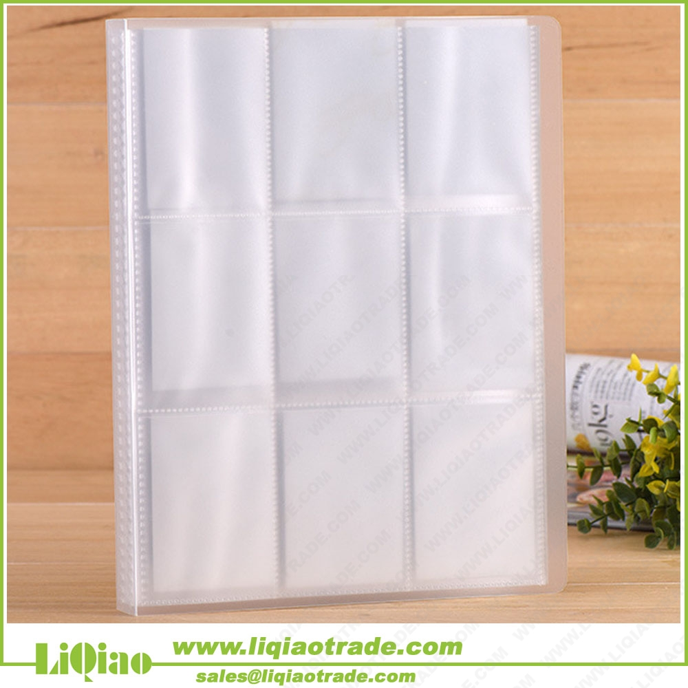 Transparent large capacity business card album